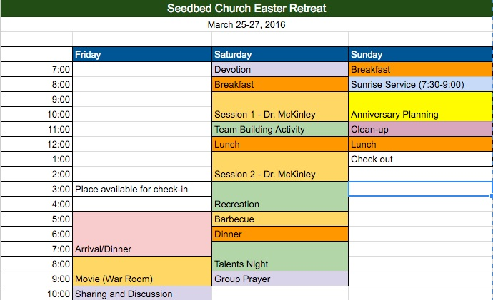 retreat-sked